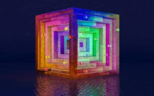 cube, cubes, the cube engine, colours, spinning