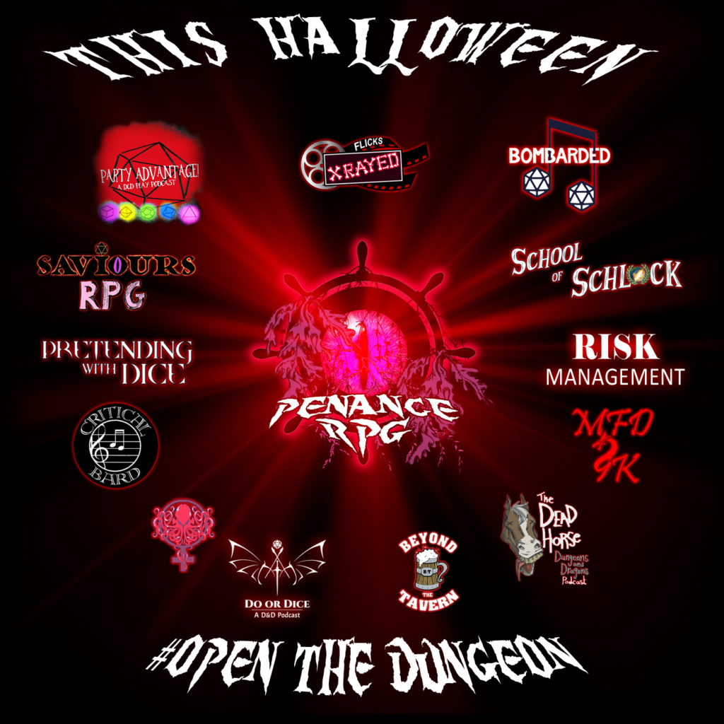 Halloween 2019, Halloween, Open The Dungeon, collaboration, special guests, Penance RPG, Halloween 2019