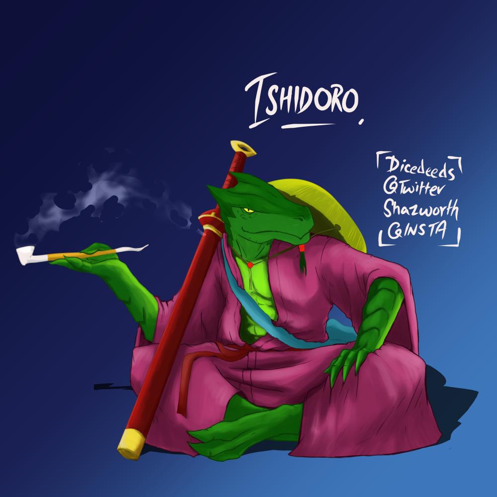 Ishidoro, dragonborn, DiceDeeds, Shazworth, dragon, green dragon