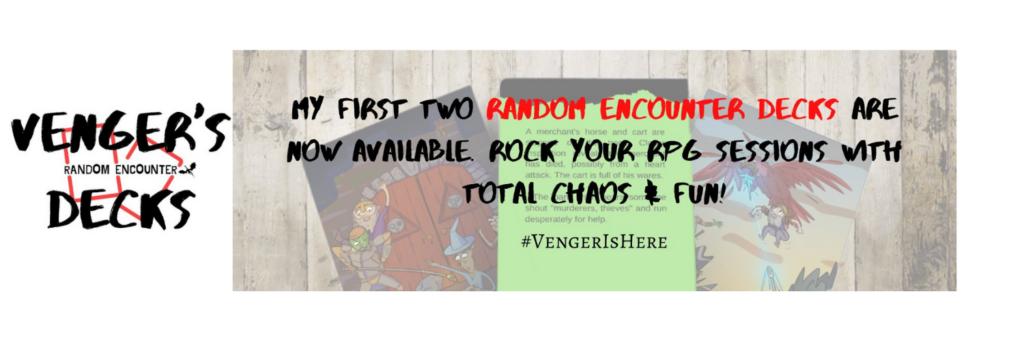Venger's Decks, rpg, ttrpg, gaming, tabletop, review, Penance RPG, marketing, Glasgow, Scotland, indie
