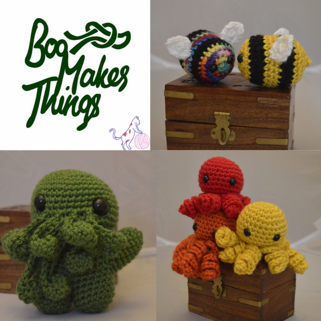 Boo Makes Things, crochet, cute, sponsor, animals, Ramblecast, gaming