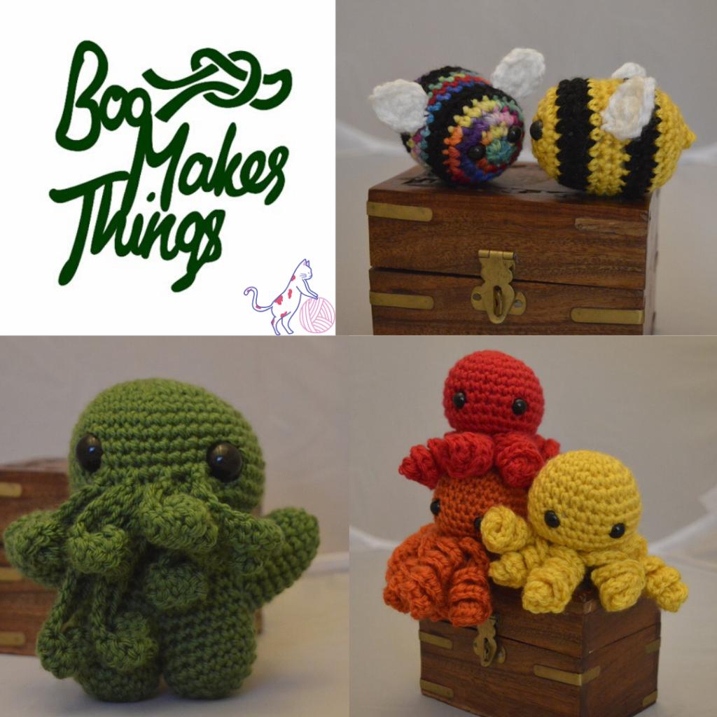 Boo Makes Things, crochet, cute, sponsor, animals, Ramblecast, gaming